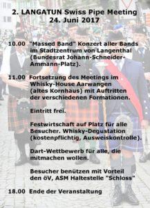 2. Langatun Pipe-Band Meeting 2017 @ Langatun Distillery | Aarwangen | Bern | Schweiz